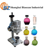 Pneumatic perfume capping machine,Semi-automatic perfume bottle crimper machine