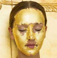 4.33*4.33cm 24k gold facial mask anti-wrinkle and anti-aging gold mask gold face mask for skin care