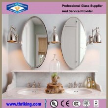 High grade 4mm-6mm oval silver mirror, polished silver mirror