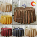 hot sale polyester jacuqard round table cloth for home /party /hotel/ wedding decoration