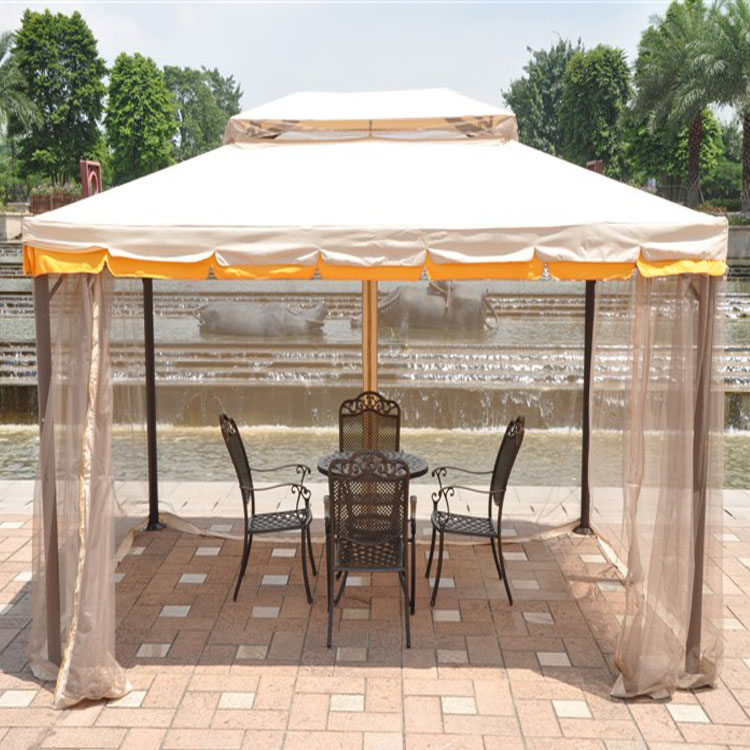 made in China customized manual de montagem tenda gazebo with mosquito net