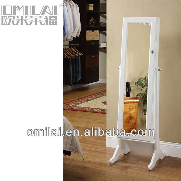 Floor standing Jewelry armoire cheval mirror
