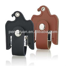 Customer logo leather eagle shape usb flash drive with keyring (PY-U-353 )