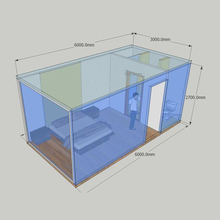 Prefabricate Flatpack Modular Finished Container House For Dwelling Accommodation