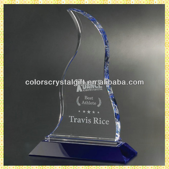 Exquisite Laser Crystal Dance Trophy Awards For The Best Athlete Prize