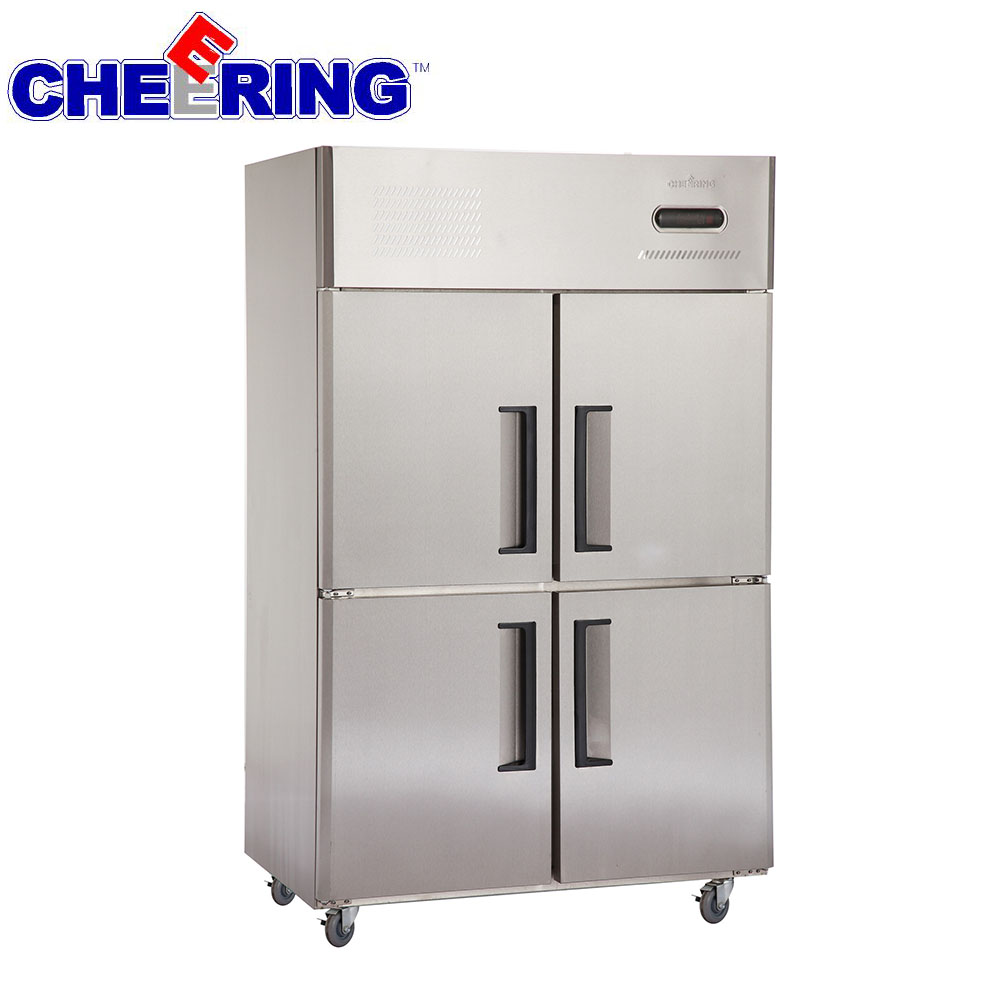 Four doors industrial refrigerator and freezer price