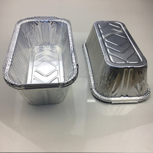 53 oz capacity rectangular shape ridged and recyclable disposable aluminum foil casseroles w/lid