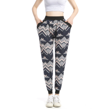 Factory direct Sale Women Wholesale Plus Size Casual Loose Printed Harem Pant