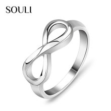 925 Sterling Silver Rings Jewelry Infinity Love Wedding Band Ring Knot Rings