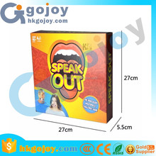 speak out mouthpiece game,plastic board game pieces for adult and children