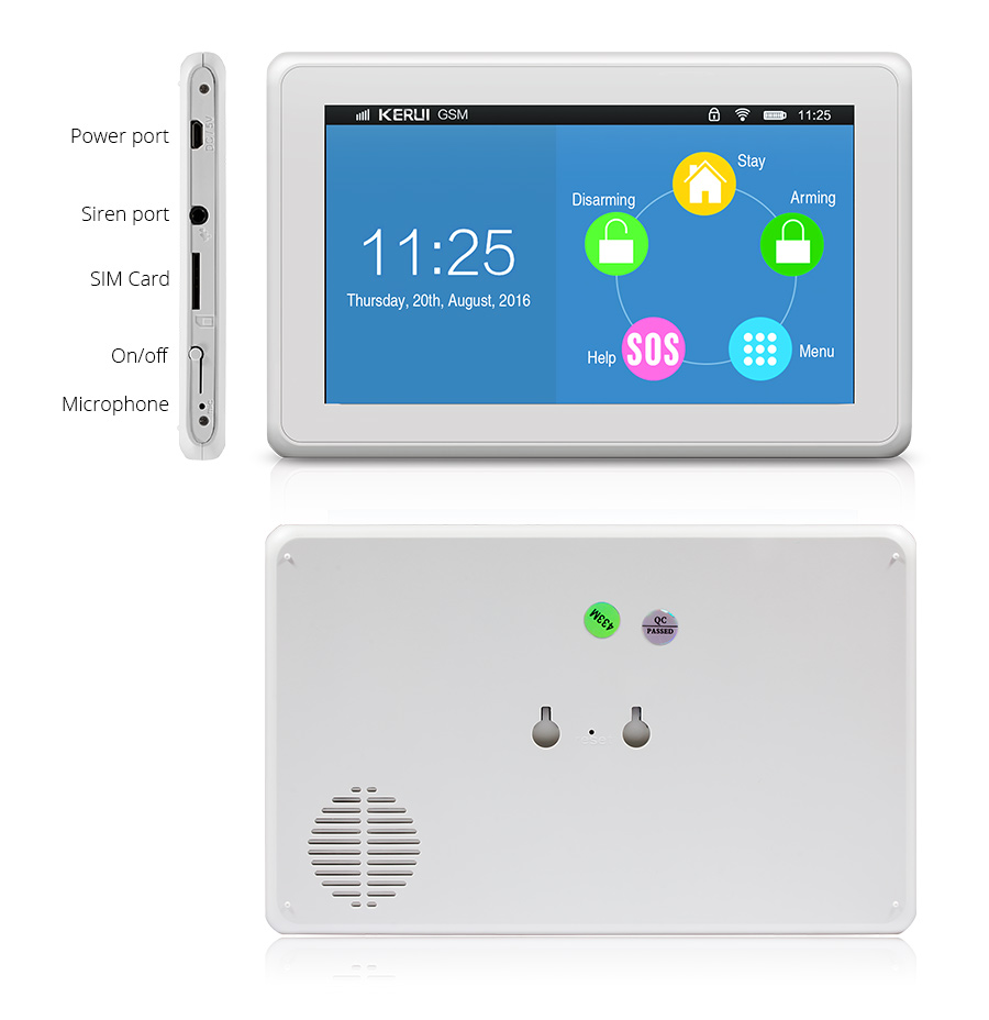 2017 new product smart home INTERNET+ WIFI alarm system touch screen WIFI / GSM KR-K7