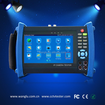7 inch touch screen TVI CVI AHD camera tester with ONVFI and TDR teser