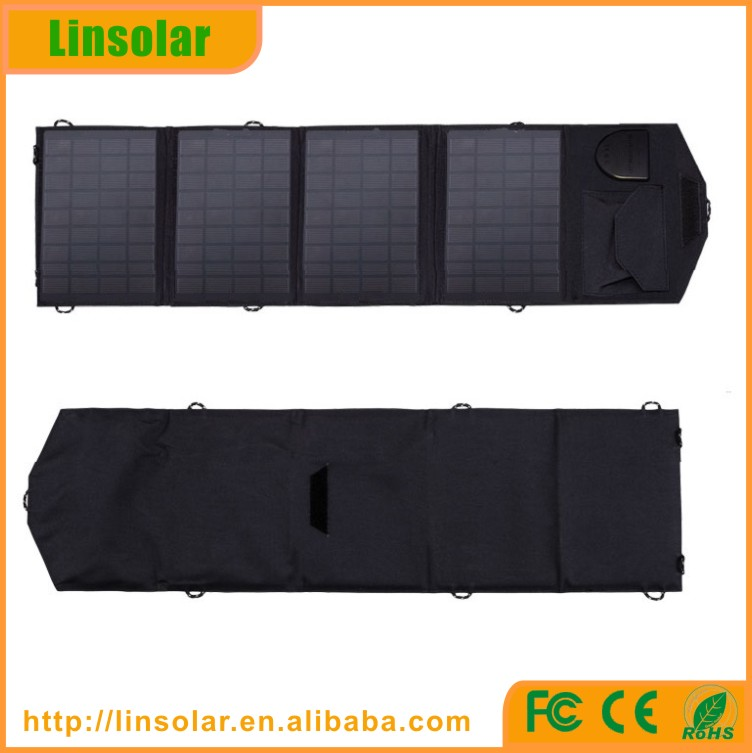 Outdoor usage laptop mobile phone sun charger 18V 14W Flexible solar panel