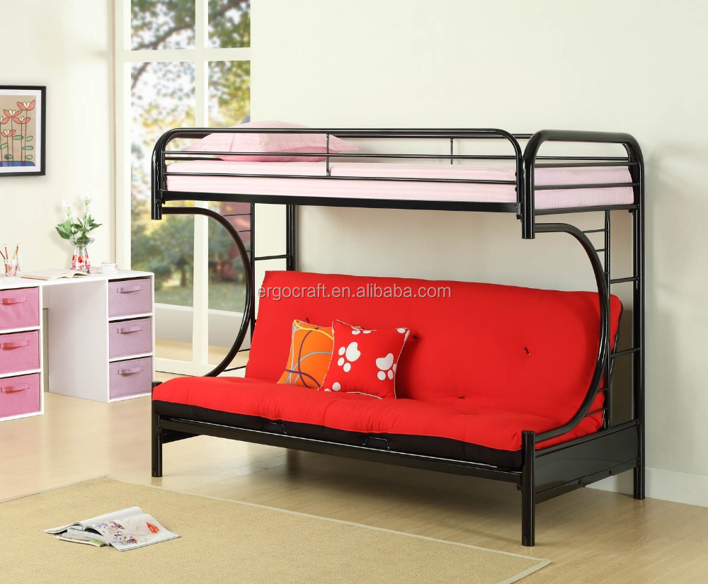 High quality loft kids double deck bed sofa bunk bed for Double deck bed images
