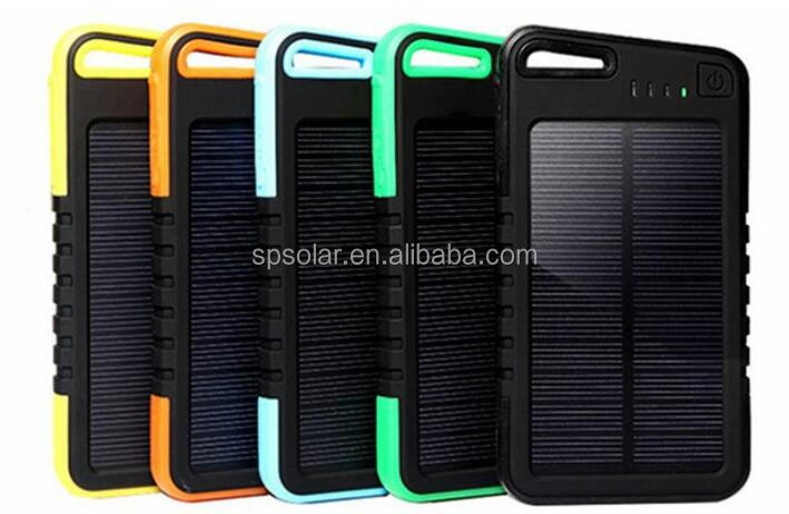 5000mAh solar charger tv with ac wall socket for mobile phone
