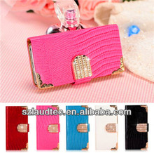 MAGNETIC DIAMOND WALLET LEATHER FLIP CASE COVER FOR IPHONE 4G 4S 5G 5S