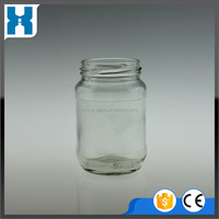 300ML EMPTY CLEAR GLASS JAR CANDLE BOTTLE