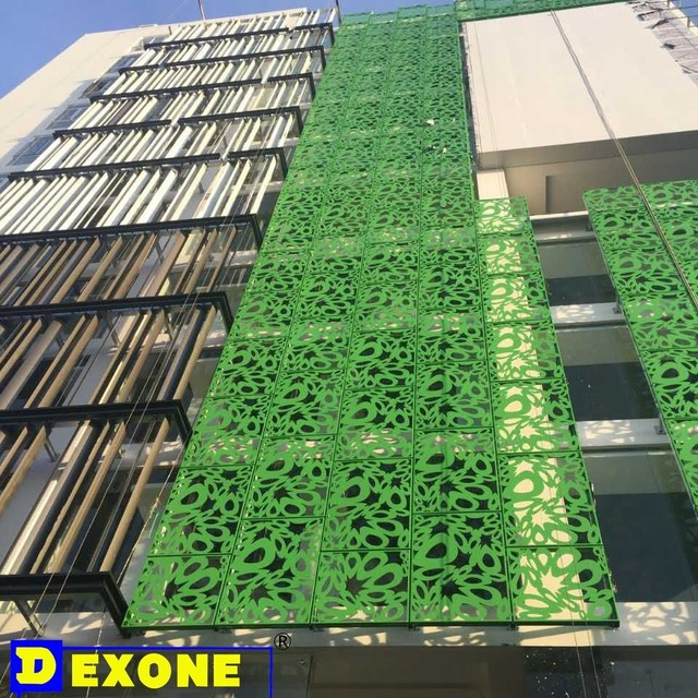 Aluminum decorative metal wall ornaments usage for interior and exterior environments