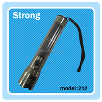 rechargeable aluminum solar power flashlight with AC charger