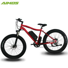 Aimos 750w Throttle control fat tire e-bike, snow electric bike