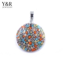 wholesale tibetan jewelry murano glass pendant charm jewelry for gift