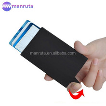 Credit Card Holder RFID Blocking Aluminum Business Card Holder Pop-up Card Case
