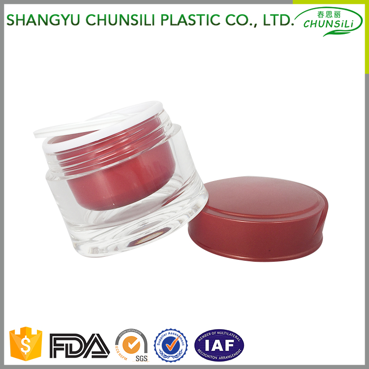 Hot Selling double wall plastic jar