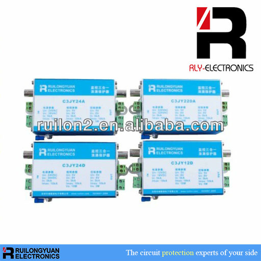 CCTV Camera Surge Protector Device With BNC&RJ45 Port Protection