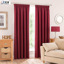 China price International on line washing custom made France pencil pleated rideaux curtain