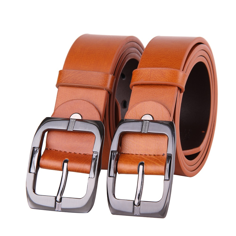 High Quality Genuine Leather Pin Belt Men Vintage Casual Women Jeans Belt