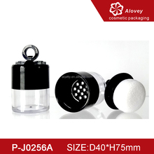 Empty Loose Powder Puff Container with Sifter and Sponge Puff