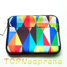 Coloured Diamond Pattern Laptop Sleeve Tablet Case Cover with Front Pocket