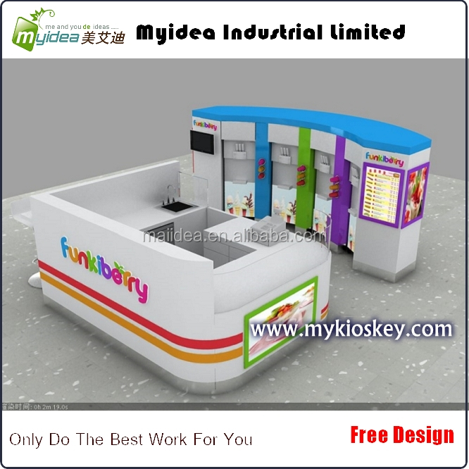 myidea ice-cream kiosk and stall machine with Juice kiosk used in mall
