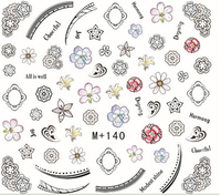 Nail Beauty DIY Design All Kinds of Flowers Water Transfer Decals Nail Art Decoration
