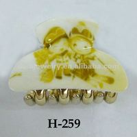 kids plastic hair clip claw clasps cheap hair clips laminate hair clamp