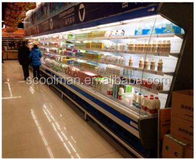 Supermarket Equipments /Fan cooling System Supermarket See-through Refrigerator