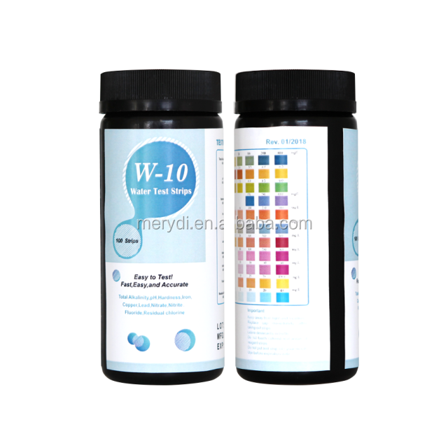 Water Test Kit - 10 in 1 Accurate Test Strips Detect W-10