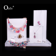 Oirlv Wholesale China Manufacturer Custom Logo Jewellery Exhibitor Props Necklace Ring Watch Holder Acrylic Jewelry Display