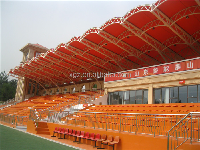 long span stand steel truss stadium