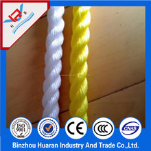 3 strands twisted polypropylene rope