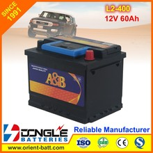 High Cranking Power 12V L2-400 Auto Battery 60Ah