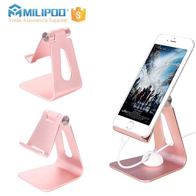 OEM Factory Adjustable Aluminum Mobile Phone Holder Lazy Mobile Phone stents Tablet holder for mobile products