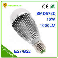 China manufacturing 120v 60hz ac light bulb smd5730 10w halogen light bulbenergy saving cheap waterproof light bulb