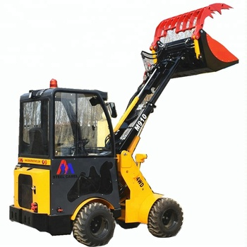 1 ton mini loader with bobcat skid steer attachment rock picker grapple