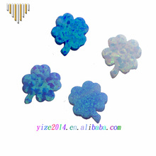 Synthetic opal lucky clover stone with dirlled hole for fashion necklace