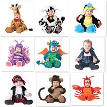 2017 lovely dinosaur lion toddler /infant party animal costumes baby halloween cosplay costume for baby
