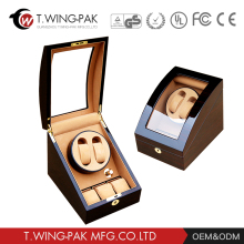 price battery luxury wooden automatic watch winder green factory