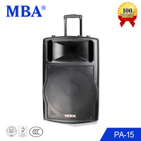 MBA 15 inch portable active speaker supported by 12V battery