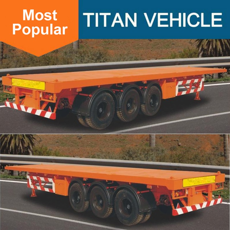 TOP quality tri-axles 40 feet container semi-trailer and flatbed trailer with good price