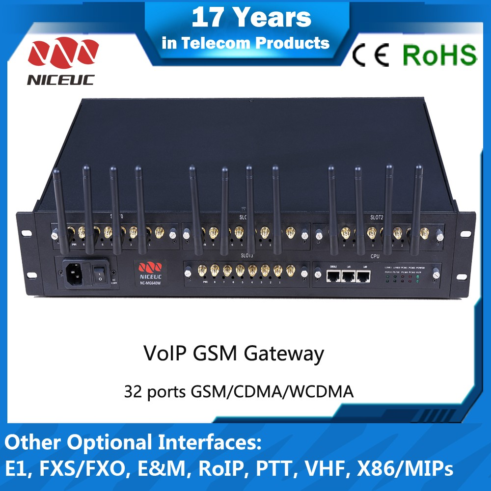 NICEUC cheap imsi catcher 32 port gsm/cdma/wcdma voip gateway